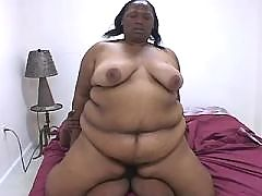 Busty ebony rides white rod outdoor