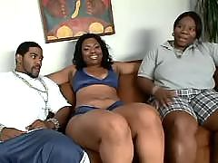 Ebony chicks slobber cock and balls