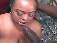 Ebony gangbangs with two white guys