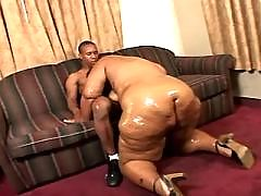 Young ebony girl getting all jizzed
